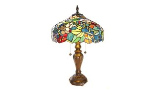 Download Dale Tiffany Izabella TiffanyStyle Stained Glass Table L... Video