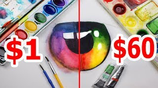 Download $60 LUXURY WATERCOLOR VS $1 CRAYOLA WATERCOLOR: Which is worth the money? Video