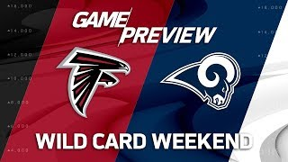Download Atlanta Falcons vs. Los Angeles Rams | NFL Wild Card Weekend Game Preview | Move the Sticks Video