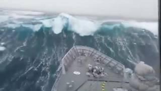 Download Incredible Video - NZ Navy HMNZ Otago in Rough Sea Video