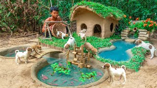 Download Rescue Abandoned Puppies Building Mud House Dog And Fish Pond For Red Fish Video