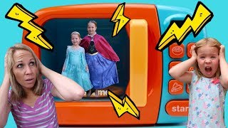 Download LIFE SIZE Magic Microwave ~ Playing with Princesses w/ Addy and Maya Video