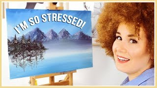 Download I Tried Following a BOB ROSS Painting TUTORIAL! (finally) Video