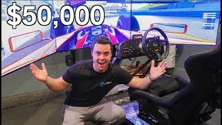 Download MY FRIEND'S INSANE $50,000 DRIVING SIMULATOR!!! Video