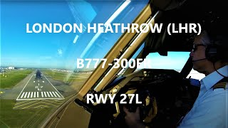 Download Cockpit View B777 Heathrow Landing Video