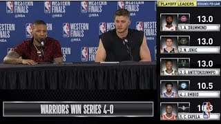 Download Damian Lillard & Meyers Leonard Press Conference | Western Conference Finals Game 4 Video