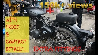 Download MOST SATISFYING EXTRA FITTINGS FOR STEALTH BLACK | JC ROAD | BUMPER for RE CLASSIC 500 | Bangalore Video