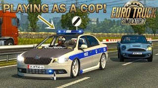 Download PLAYING AS THE POLICE IN ETS2! (Euro Truck Simulator 2) Video