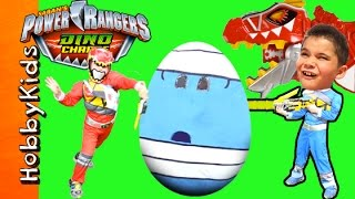 Download Giant POWER RANGERS Surprise Egg Adventure with Dino Charge Toys Video