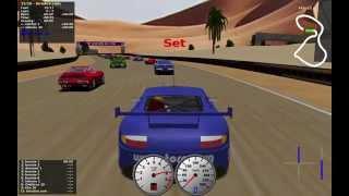 Download TORCS gameplay car2-trb1 versus all on Road Tracks - Noye desert Video