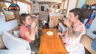 Download Single Mom Self Converts Fire Truck Into Tiny Home To Travel With Her Daughter - RENOVATION UPDATE Video