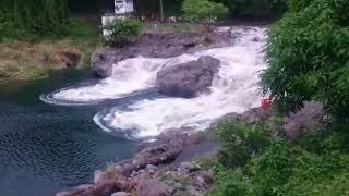 Download Impressionnante montée des eaux à Bassin Bleu à Sainte Anne Video