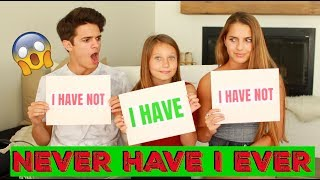 Download NEVER HAVE I EVER w/ Little Sister and Cousin! | Brent Rivera Video