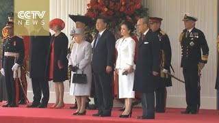 Download FULL VIDEO: Queen Elizabeth II hosts welcoming ceremony for Chinese President Xi Jinping Video