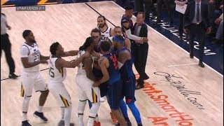 Download OKC Thunder vs Utah Jazz - All 11 fight/brawl scenes - ugliest game in years! Video