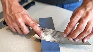 Download Como afiar faca tipo NAVALHA!   Chaira, pedra e couro. Video
