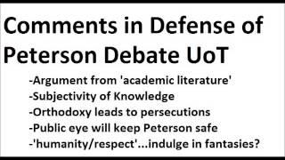 Download In Defense of Peterson at UoT Debate Video