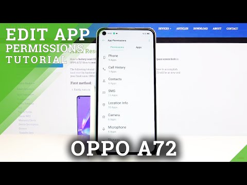 How to Manage Apps Permissions in Oppo A72 - Customize Applications