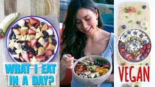 Download WHAT I EAT IN A DAY! Vegan & Healthy Breakfast, Lunch and Dinner Video