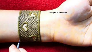 Download Heart Shape Mandala Henna Design for Hands |Thought of Creation Video