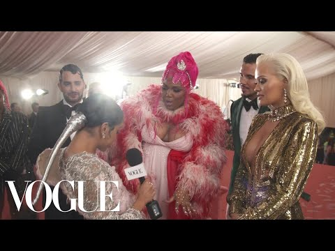 Rita Ora & Lizzo on Their Glamorous Met Gala Looks | Met Gala 2019 With Liza Koshy | Vogue