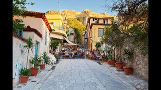 Download Athens, Greece - walking in the Plaka area Video