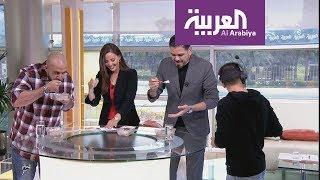 Download سحس يتحدى مقدم صباح العربية بالمعصوب Video