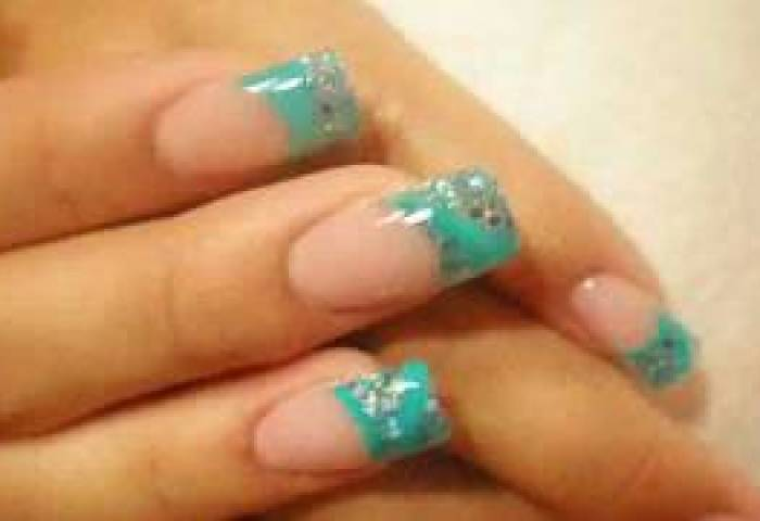 Little Blue Prom Nails Español Youtube