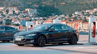 Download Elektromos autóval a tengerre és a legszebb Tesla töltő Európában Video