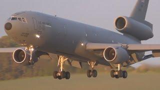 Download *Rare!* USAF KC10 Stunning Evening Landing at Prestwick Airport Video