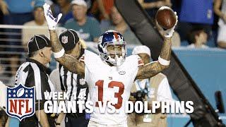 Download Odell Beckham Jr.'s Unbelievable Toe-Drag TD! | Giants vs. Dolphins | NFL Video