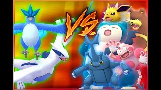 Download Pokemon GO Gym Battles ARTICUNO & MAX OUT LUGIA VS Level 6 Gym Heracross, Mr. Mime + more Video