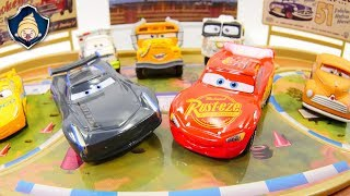 Download Disney Cars 3 Toys Lightning McQueen Jackson Storm Triple Battle race Course Play Set movie for Kids Video