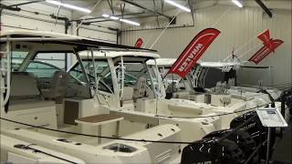 Download 2018 Boston Whaler 345 Conquest, New Walk Around for Sale in Sandusky, Ohio @ Clemons Boats Video