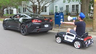 Download Pulling Cars Over Using A Toy Police Car Video