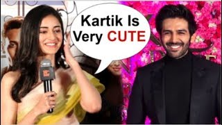 Download Ananya Panday BLUSHES When Asked About BOYFRIEND Kartik Aaryan At Student Of The Year 2 Trailer Video