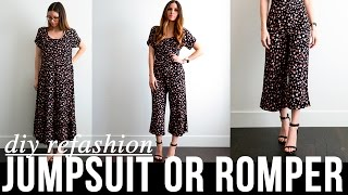 Download DIY very EASY dress to jumpsuit or romper refashion Video