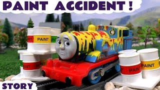 Download Thomas & Friends Paint Accident & Rescue | Paw Patrol Minions and Peppa Pig Clean Up With Play Doh Video