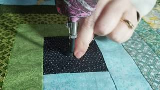 Download Large Flower Custom quilting, Custom Block work Longarm hand guided free motion quilting Gammill Video