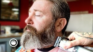 Download Master Barber Transforms the Style of a Traveler From Texas Video