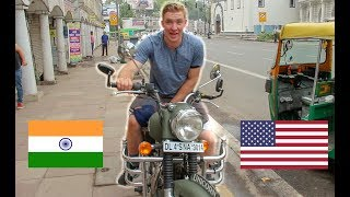 Download AMERICAN rents MOTORCYCLE in INDIA! (Royal Enfield) Video