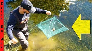 Download UMBRELLA FISH TRAP! Catches Crawfish, Fish, and More! Video