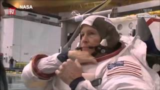 Download NASA astronaut Peggy Whitson suits up for training Video