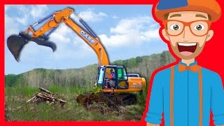 Download Construction Trucks for Children with Blippi | Excavators for Kids Video