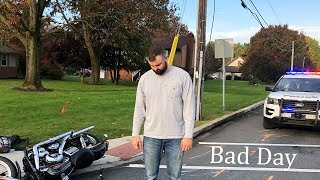 Download Dump Truck runs over my Bike (I Barely Make it) Video
