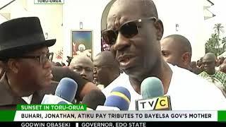 Download Buhari, Jonathan, Atiku, pay tributes to Bayelsa governor's mother Video