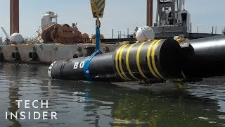 Download Giant Floating Pipes Help To Remove Ocean Waste Video
