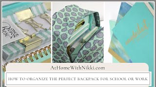 Download How To Organize The Perfect Backpack For School or Workbag PLUS Massive Giveaway Week Video