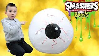 Download GROSS GIANT EYEBALL SMASHERS Slime Surprise Egg Smashing Fun With CKN Toys Video