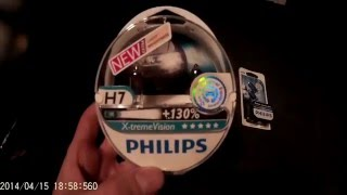 Download Test Philips H7 X treme VISION +130% & Philips w5w Xenon Ultimate Effect Video